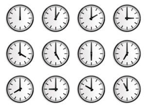 12 hours clock